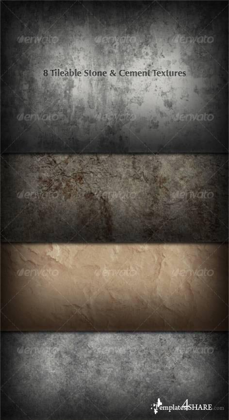 Tileable Stone Textures - PSD Photoshop Templates