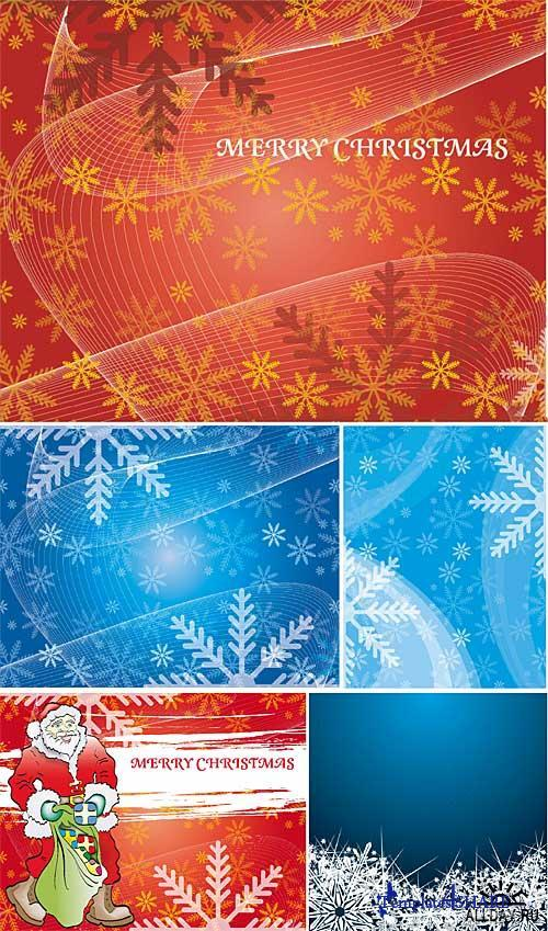 Snow Backgrounds - Vector Clipart