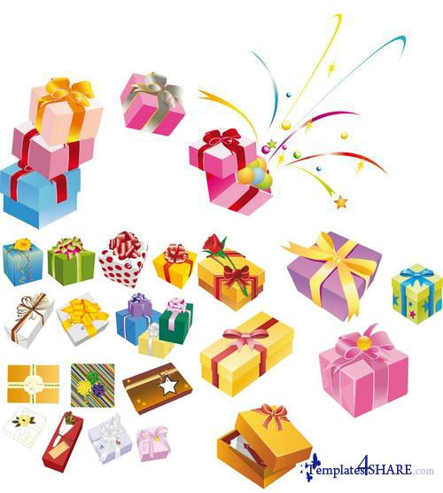 Gifts Vector Boxes 5