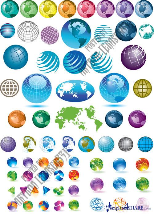 Globe Sphere Vector Design
