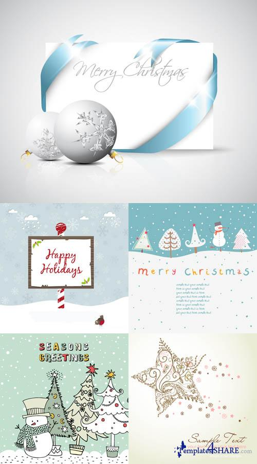 Christmas Vector Cards 4