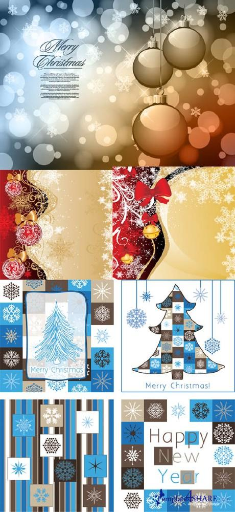 Christmas Vector Backgrounds 16