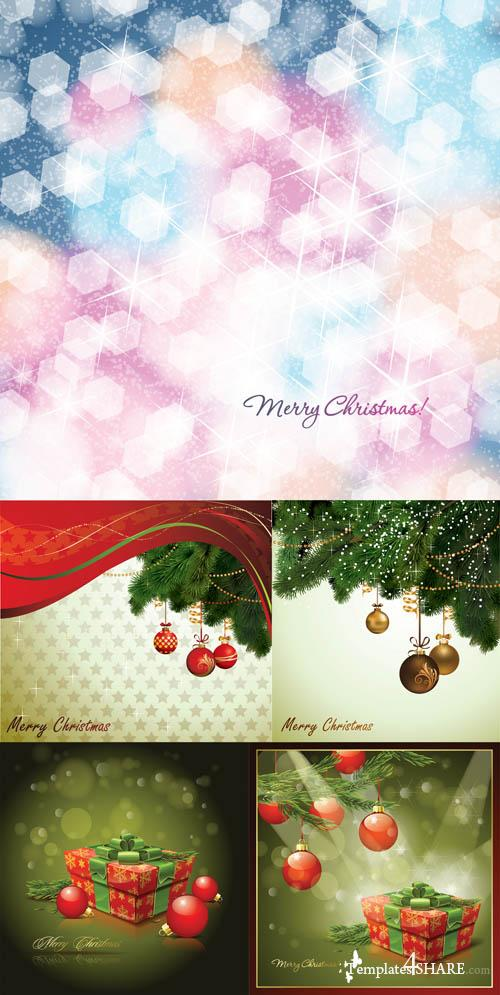 Christmas Vector Backgrounds 15