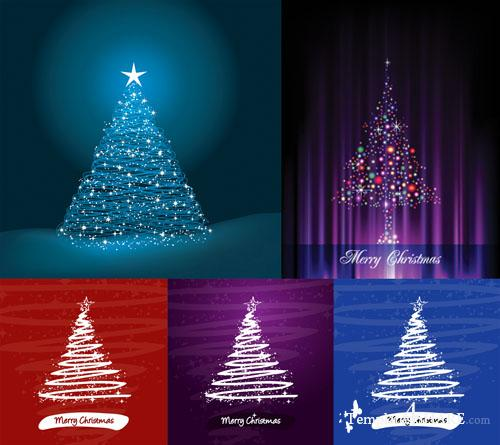 Christmas Tree Vector Mix 11
