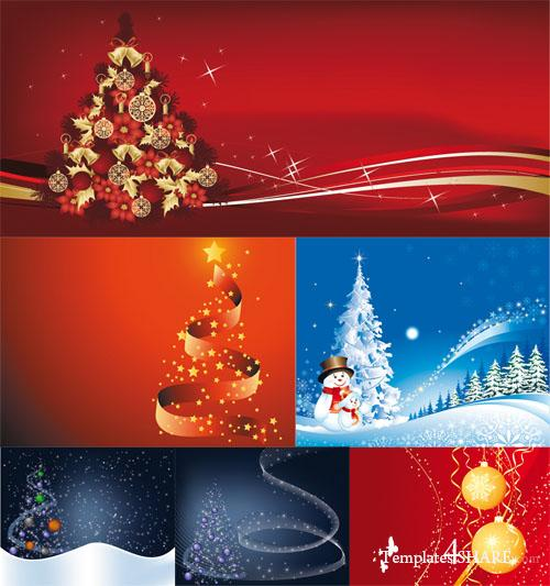 Christmas Vector Backgrounds 14