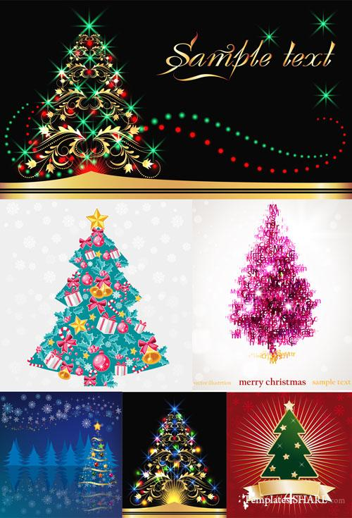 Christmas Tree Vector Mix 10