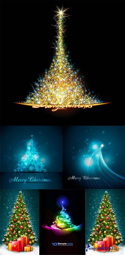 Christmas Tree Vector Mix 9