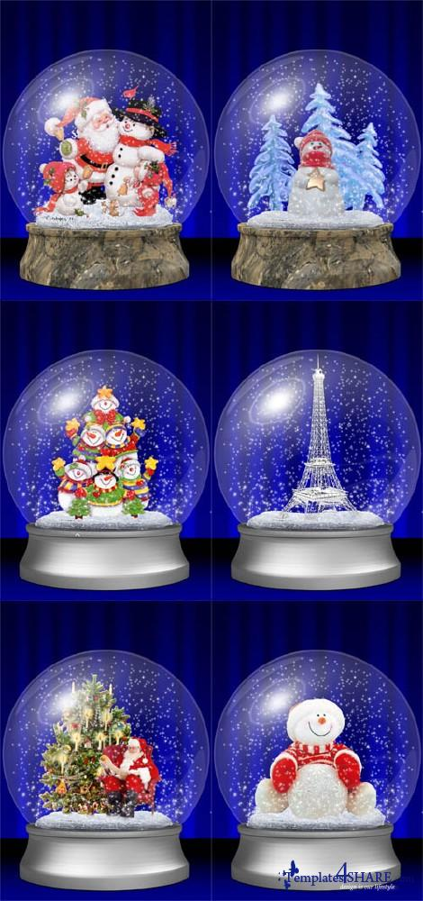 Christmas Glass Balls - PSD Template