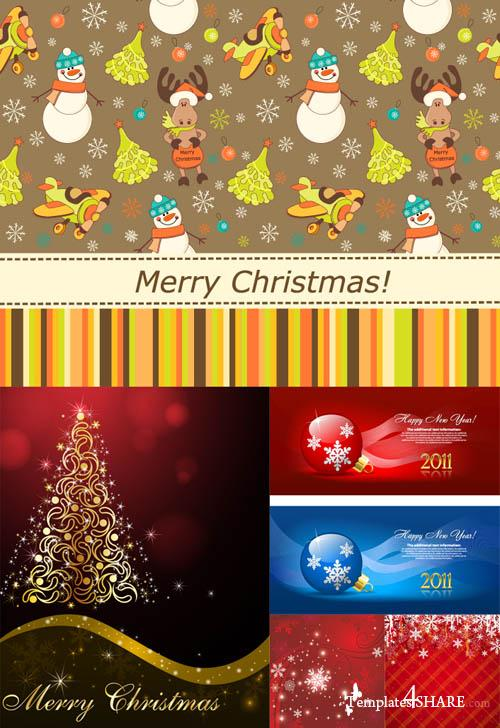 Christmas Vector Backgrounds 17