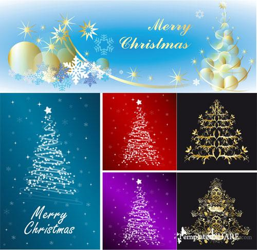 Christmas Tree Vector Mix 12