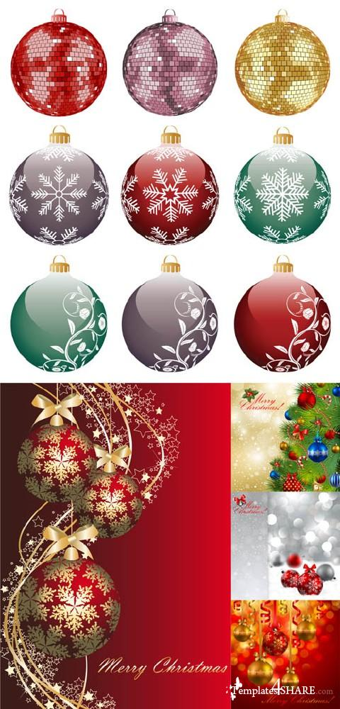 Christmas Balls 11 - Vector Clipart