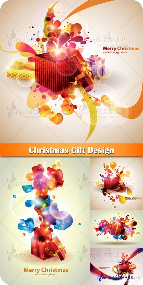 Christmas Gift Design - Stock Vectors