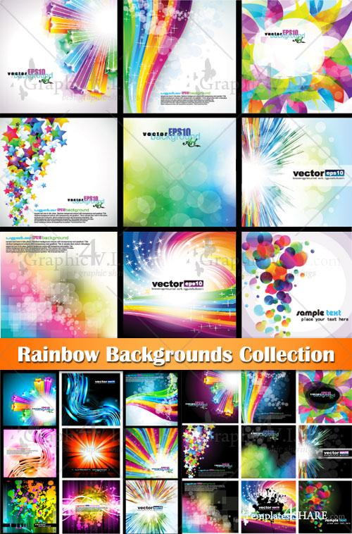 Rainbow Backgrounds Collection - Stock Vectors