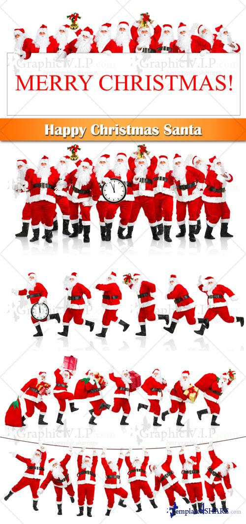Happy Christmas Santa - Stock Photos