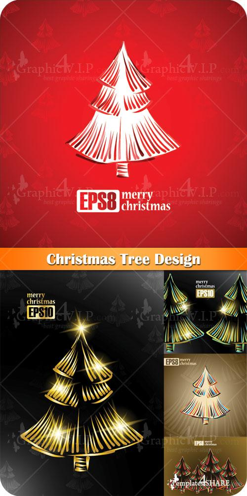 Christmas Tree Design - Stock Vectors