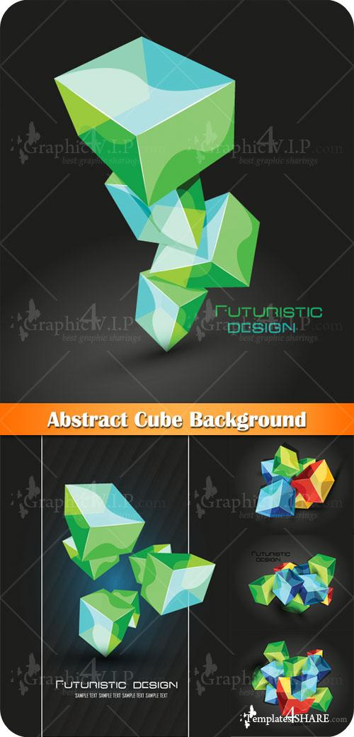 Abstract Cube Background - Stock Vectors