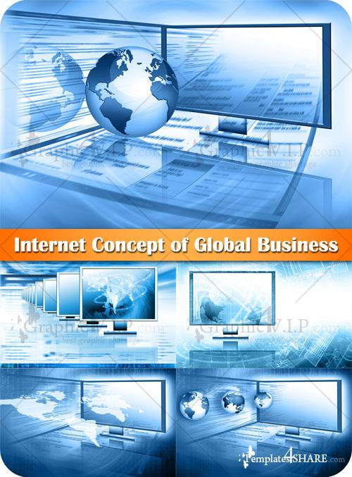 Internet Concept of Global Business - Stock Photos