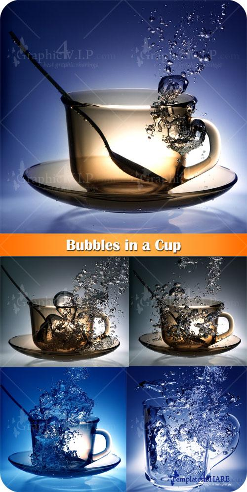 Bubbles in a Cup - Stock Photos