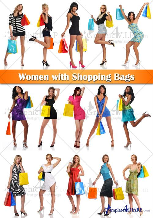 Women with Shopping Bags - Stock Photos