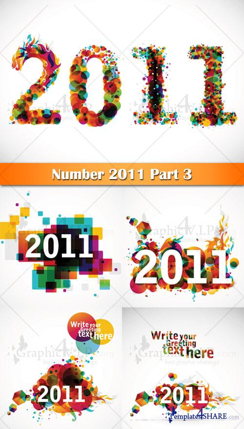 Number 2011 Part 3 - Stock Vectors