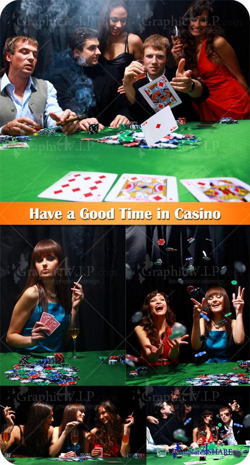 Have a Good Time in Casino - Stock Photos