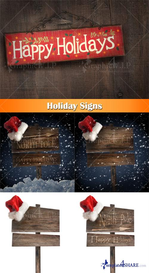 Holiday Signs - Stock Photos