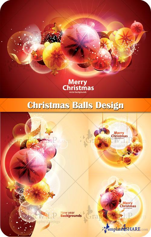 Christmas Balls Design - Stock Vectors