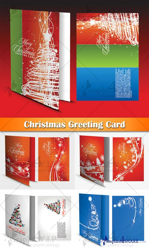 Christmas Greeting Card - Stock Vectors
