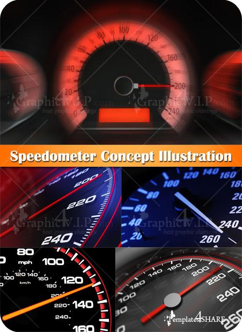 Speedometer Concept Illustration - Stock Photos