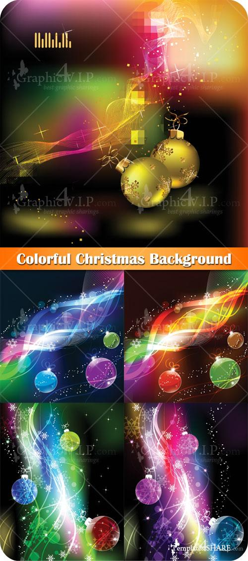 Colorful Christmas Background - Stock Vectors