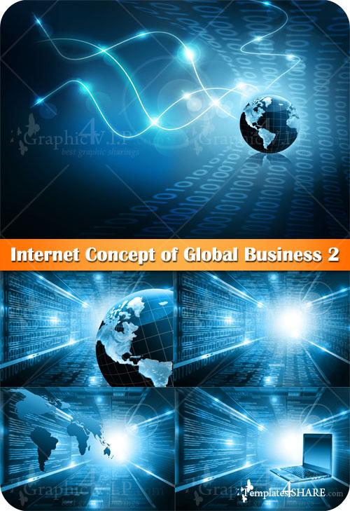 Internet Concept of Global Business 2 - Stock Photos