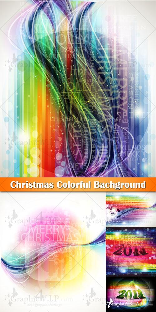 Christmas Colorful Background - Stock Vectors