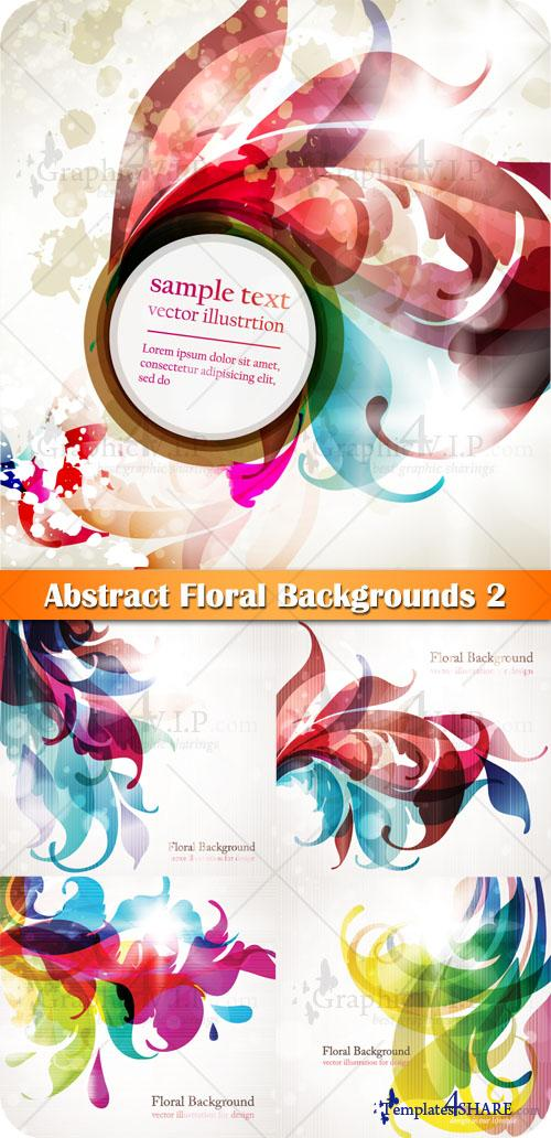 Abstract Floral Backgrounds 2 - Stock Vectors