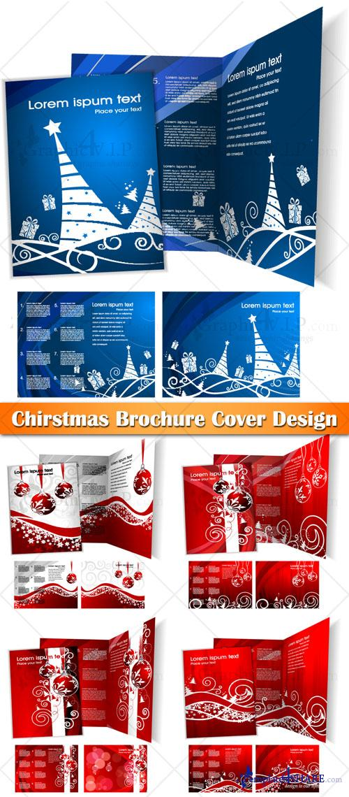 Chirstmas Brochure Cover Design - Stock Vectors