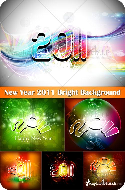 New Year 2011 Bright Background - Stock Vectors