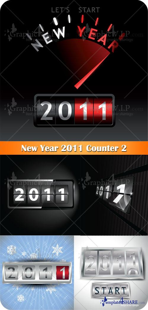 New Year 2011 Counter 2 - Stock Vectors