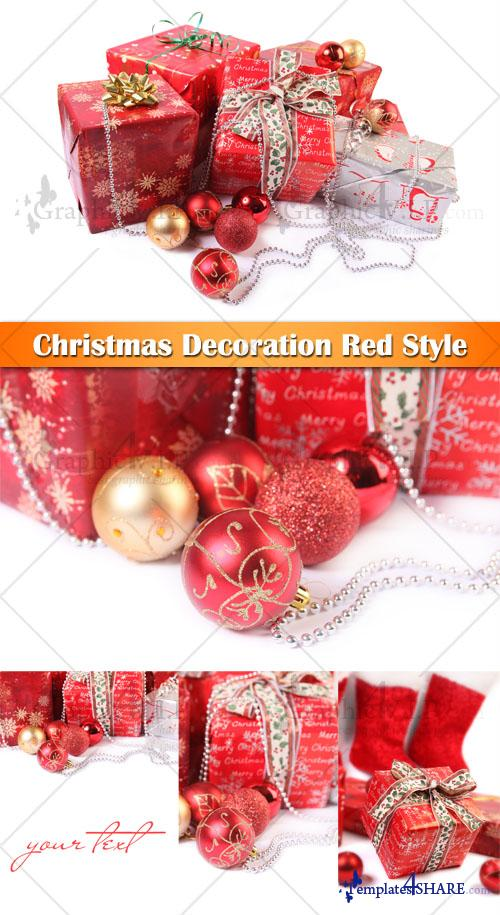 Christmas Decoration Red Style - Stock Photos