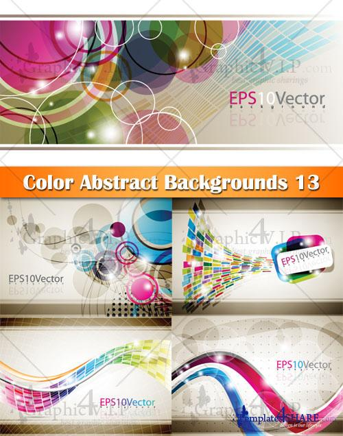 Color Abstract Backgrounds 13 - Stock Vectors