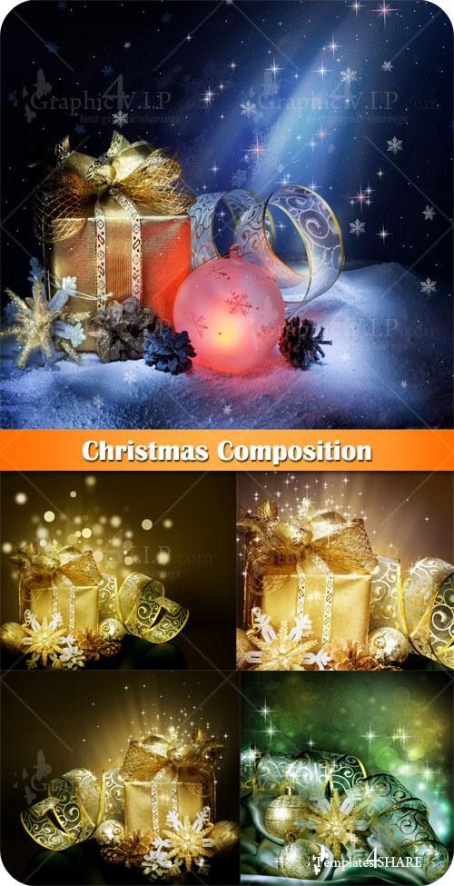 Christmas Composition - Stock Photos