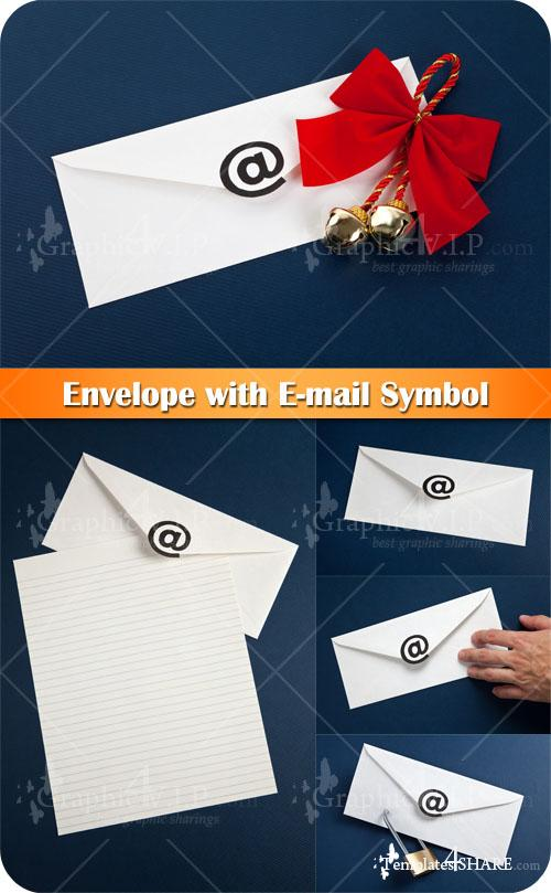 Envelope with E-mail Symbol - Stock Photos