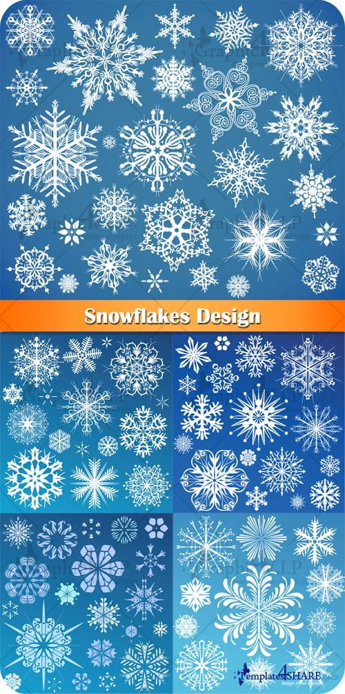 Snowflakes Design - Stock Vectors