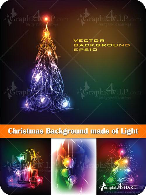 Christmas Background made of Light - Stock Vectors