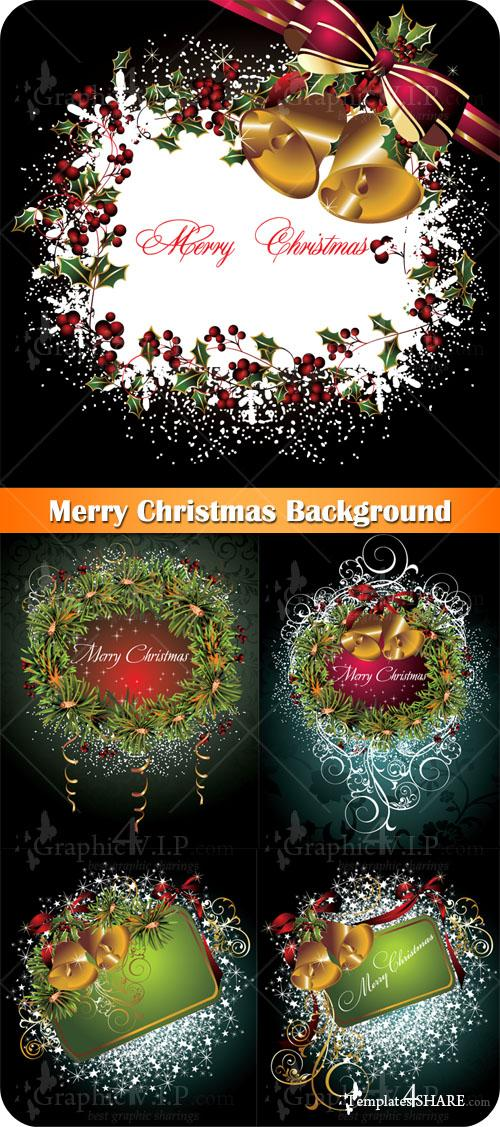 Merry Christmas Background - Stock Vectors