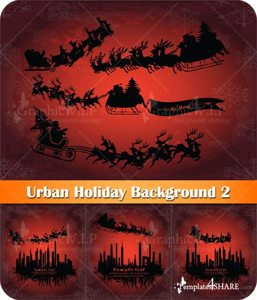 Urban Holiday Background 2 - Stock Vectors