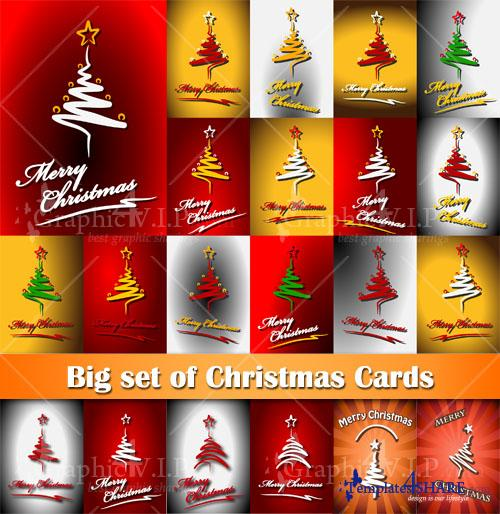 Big set of Christmas Cards - Stock Vectors