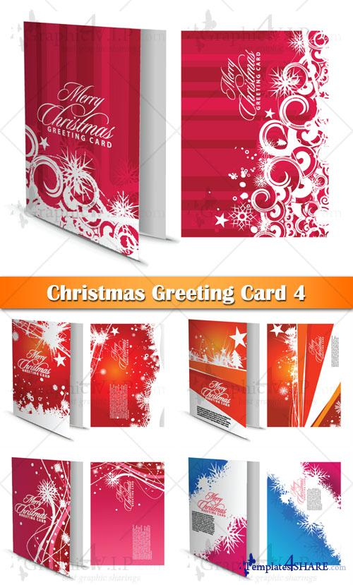 Christmas Greeting Card 4 - Stock Vectors