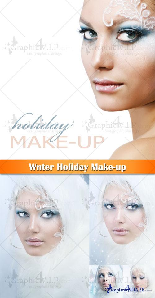 Winter Holiday Make-up - Stock Photos