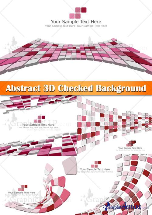 Abstract 3D Checked Background - Stock Vectors