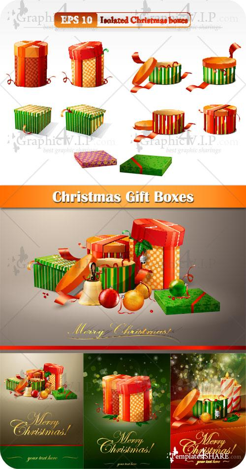 Christmas Gift Boxes - Stock Vectors