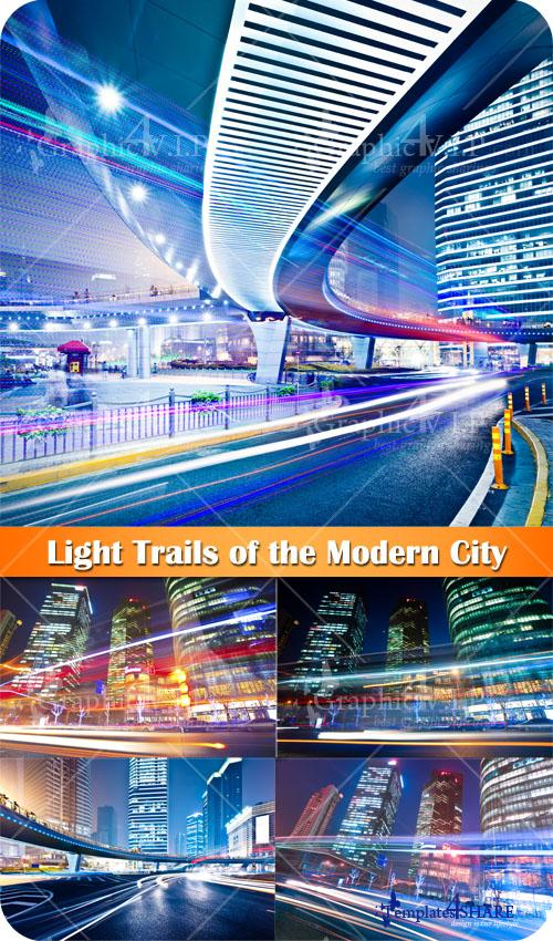 Light Trails of the Modern City - Stock Photos